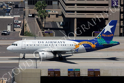 A319 00029 US Airways Airbus A319 N822AW Nevada Battle Born Sky Harbor July 2011 airliner picture, by Carl Porter