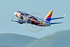 "AEE-B737 0018 A colorful Boeing 737 Southwest Airline N918WN in ""ILLINOIS"" color scheme climbs out after take-off from SFO 4-2016 jet airliner picture by Peter J  Mancus"