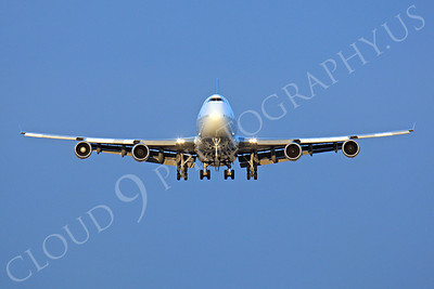 FFAL 00016 A head-on Air New Zealand Boeing 747 landing airliner picture, by Peter J Mancus