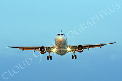 FFAL 00028 A head-on Virgin America Airbus A319 landing airliner picture, by Peter J Mancus