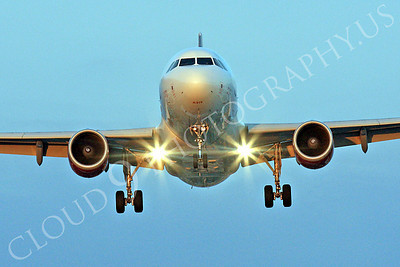 FFAL 00058 A head-on Virgin America Airbus A319 landing airliner picture, by Peter J Mancus
