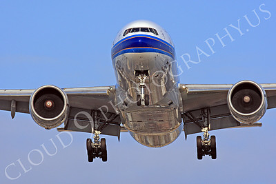 FFAL 00026 A head-on China Southern Boeing 777 landing airliner picture, by Peter J Mancus