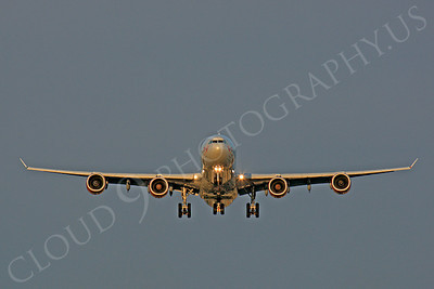 FFAL 00014 A head-on Virgin Atlantic Airbus A340-600 landing airliner picture, by Peter J Mancus