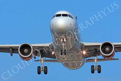 FFAL 00008 A head-on Virgin America Airbus A319 about to land airliner picture, by Peter J Mancus