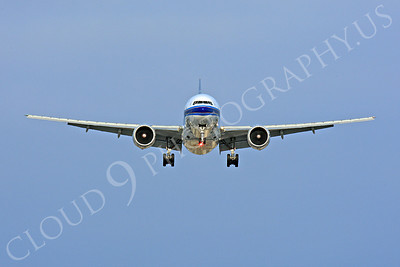 FFAL 00004 A China Southern Boeing 777 about to land head-on airliner picture, by Peter J Mancus