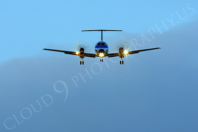 FFAL 00013 A head-on Skywest Airlines Embraer EMB-120 Brasilia on final approach to land airliner picture, by Peter J Mancus