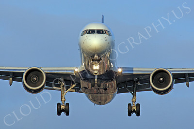 FFAL 00017 A head-on Boeing 757 airliner on final approach to land airliner picture, by Peter J Mancus