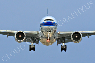 FFAL 00048 A China Southern Boeing 777 about to land head-on airliner picture, by Peter J Mancus