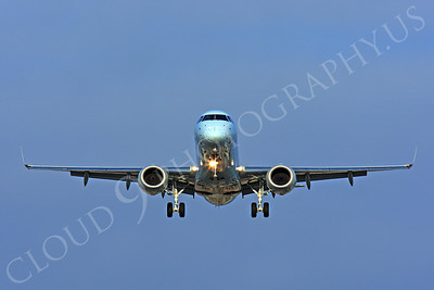FFAL 00009 A head-on Canadian Airlines Embraer 190 about to land airliner picture, by Peter J Mancus
