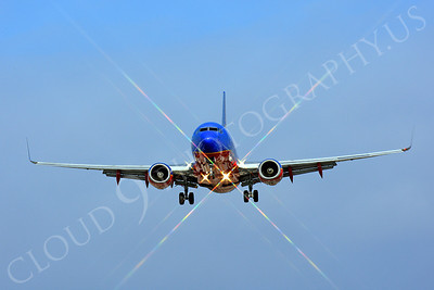 FFAL 00011 A head-on Southwest Airline Boeing 737 about to land airliner picture, by Peter J Mancus