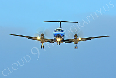 FFAL 00018 A head-on United Express Embraer EMB-120 Brasilia landing airliner picture, by Peter J Mancus