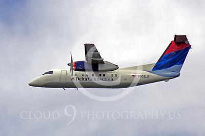 Bombardier Dash 8 00004 Bombardier Dash 8 Delta Connection N802LR by Peter J Mancus