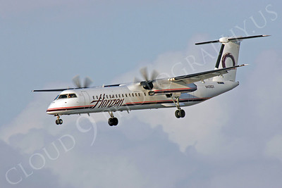 Bombardier Dash 8 Series 400 00010 Horizon Airline N408QX by Peter J Mancus