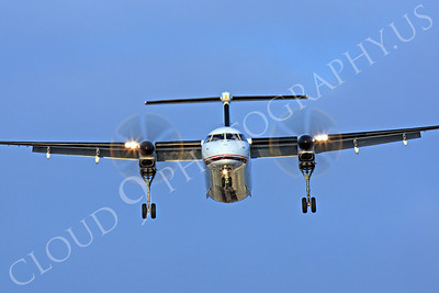 FFAL 00047 A head-on Horizon Air Bombardier Dash 8 Series 400 landing airliner picture, by Peter J Mancus