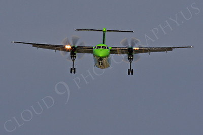 FFAL 00081 A head-on Horizon Air Bombardier Dash 8 Series 400 landing airliner picture, by Peter J Mancus