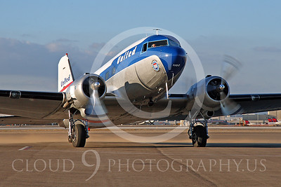 DC-3 00045 Douglas DC-3 United Airline by Tim Wagenknecht