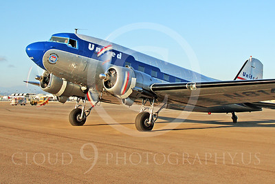 DC-3 00011 Douglas DC-3 United Airline N814CL by Tim Wagenknecht