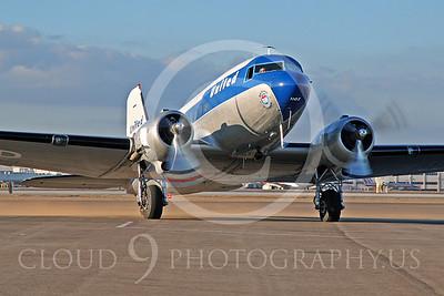 DC-3 00021 Douglas DC-3 United Airline by Tim Wagenknecht
