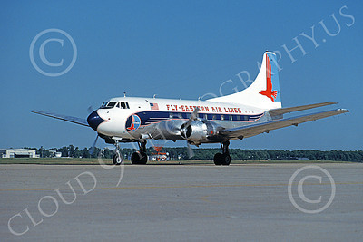 ALPR 00007 A Convair 580 variant Eastern Airlines taxis at Andrews AFB 5-1992 airliner picture by David F Brown