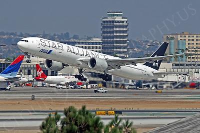 B777P 00044 Boeing 777 ANA Airline STAR ALLIANCE JA73IA at LAX by Tim Wagenknecht
