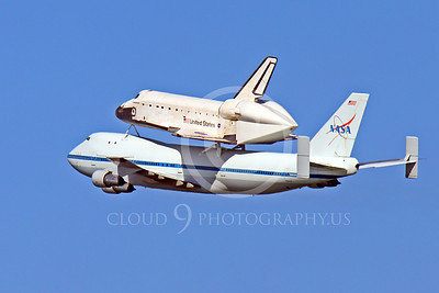 NASA-Space Shuttle 00007 A quarter rear view of the space shuttle Endeavour in flight on a NASA Boeing 747 N905NA on its last flight on September 21, 2012, by Peter J Mancus
