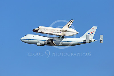 NASA-Space Shuttle 00012 The space shuttle Endeavour in flight on a NASA Boeing 747 N905NA on its last flight on September 21, 2012, by Peter J Mancus