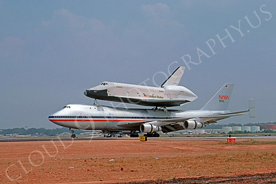 NASA-Space Shuttle 00003 Boeing 747 and Space Shuttle Enterprise 10 August 1979 by Ray R Leader via African Aviation Slide Service