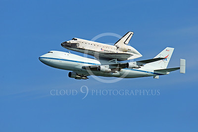 NASA-Space Shuttle 00024 The space shuttle Endeavour in flight on a NASA Boeing 747 N905NA on its last flight on September 21, 2012, by Peter J Mancus