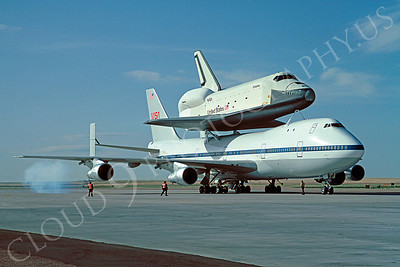 NASA-Space Shuttle 00001 Boeing 747 and Space Shuttle Enterprise Peterson AFB May 1983 by C T Robbins via African Aviation Slide Service