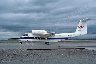 NASA-YC-8A 00001 NASA Boeing YC-8A QSRA Quiet Short-Haul Research Aircraft N715NA April 1980 by Michael Grove, Sr