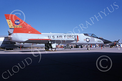 NASA-F-106 00013 A static Convair F-106A Delta Dart NASA 90130 Edwards AFB 10-1991 airplane picture by Tom Chee