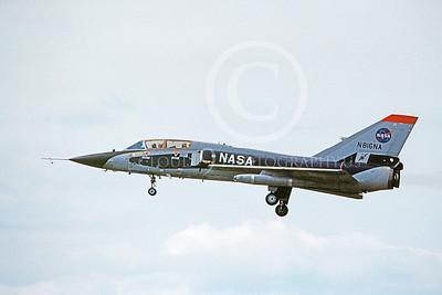 NASA-F-106 00002 A landing Convair F-106B Delta Dart NASA N816NA 4-1982 military airplane picture by Ray Leader