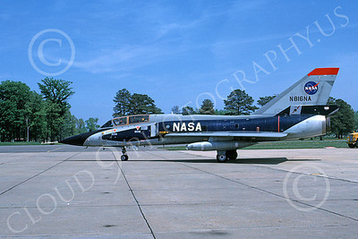 NASA-F-106 00007 A taxing Convair F-106B Delta Dart NASA N816NA 4-1982 airplane picture by Ray Leader