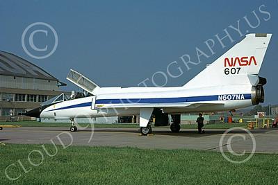 NASA-F-106 00003 A static Convair F-106B Delta Dart NASA N607NA 572507 Cleveland 10-1979 airplane picture by Thomas Sabato