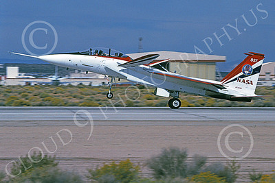 NASA-F-15 00001 A landing McDonnell Douglas YF-15B Eagle jet fighter NASA 837 Edwards AFB 11-2005 airplane picture by Michael Grove, Sr