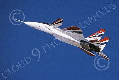 NASA-F-15 00010 A flying McDonnell Douglas YF-15B Eagle jet fighter NASA 837 Edwards AFB 11-2005 airplane picture by Michael Grove, Sr
