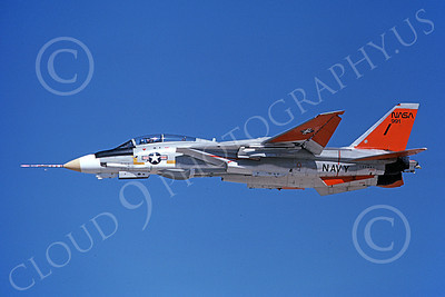 NASA-F-14 00008 A flying NASA Grumman F-14 Tomcat jet fighter 4-1981 airplane picture by Michael Grove, Sr