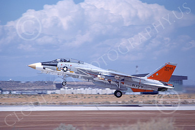 NASA-F-14 00010 A NASA Grumman F-14 Tomcat jet fighter takes off from Edwards AFB 8-1982, airplane picture by Michael Grove, Sr