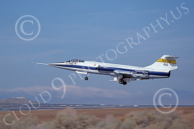NASA-F-104 00014 A flying Lockheed F-104 Starfighter NASA 826 Edwards AFB 11-1983 military airplane by Michael Grove, Sr