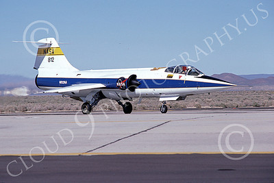 NASA-F-104 00001 A taxing Lockheed F-104 Starfighter NASA 812 Edwards AFB 3-1982 airplane picture by Michael Grove, Sr