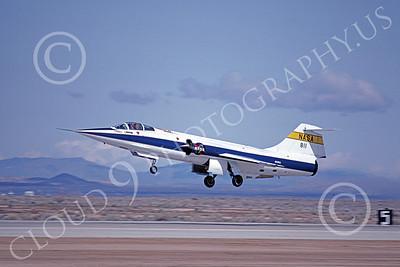 NASA-F-104 00010 A flying Lockheed F-104 Starfighter NASA 811 Edwards AFB 4 March 1983, by Michael Grove, Sr
