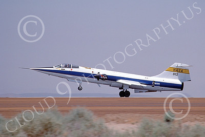 NASA-F-104 00002 A landing Lockheed F-104 Starfighter NASA 812 Edwards AFB 5-1983 airplane picture by Michael Grove, Sr