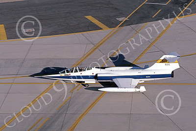 NASA-TF-104 00003 A taxing Lockheed TF-104 Starfighter NASA 825 Edwards AFB 3-1987 airplane picture by Michael Grove, Sr