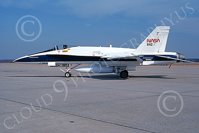 NASA-F-18 00003 A static McDonnell Douglas F-18A Hornet NASA 842 161214 2-1993 airplane picture by Michael Grove, Sr