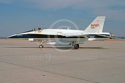 NASA-F-18 00001 NASA McDonnell Douglas F-18 Hornet N842NA Andrews AFB 21 October 1992 by Bruce Trombecky via African Aviation Slide Service
