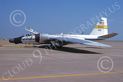 NASA-B-57 00007 A static Martin NASA RB-57 Canberra Earth Survey aircraft 926 3-1979 airplane picture by Michael Grove, Sr