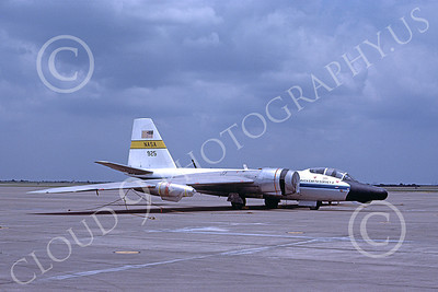 NASA-B-57 00009 A static Martin NASA RB-57 Canberra Earth Survey aircraft 925 7-1982 airplane pictures by Michael Grove, Sr