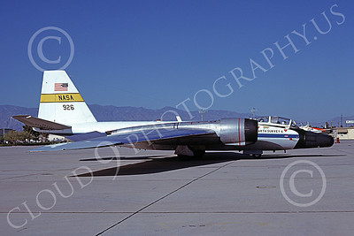 NASA-B-57 00005 A static white NASA Martin RB-57F Canberra 926 Earth Survey aircraft D-M AFB 4-1979 airplane picture by Ben Knowles, Jr