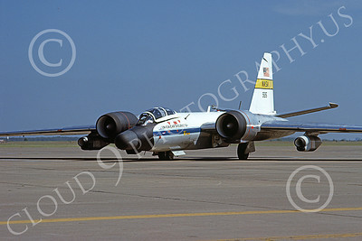 NASA-B-57 00008 A static Martin NASA RB-57 Canberra Earth Survey aircraft 926 3-1979 airplane picture by Michael Grove, Sr
