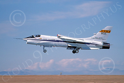 NASA-F-8 00002 Vought F-8 Crusader NASA 802 Edwards AFB March 1985 by Michael Grove, Sr